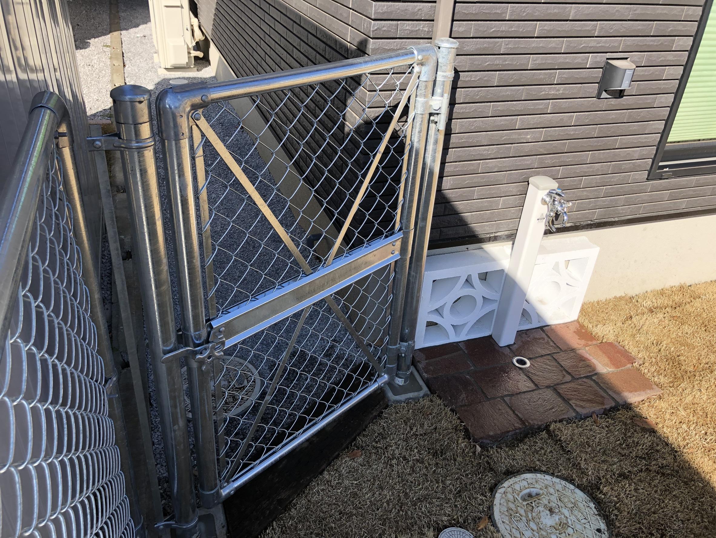 滑川町内 花ブロック門柱/HBLロング/アプローチ/アーバン・PCフェンス/水栓
