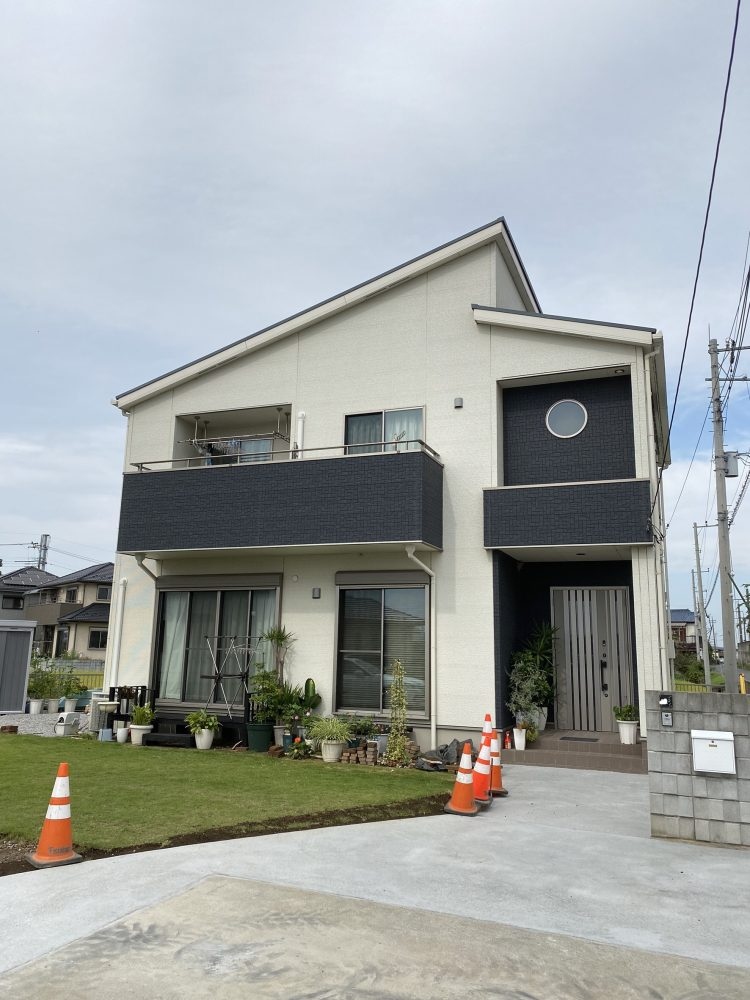 熊谷市内 カナリーヤシ・ソテツ植栽